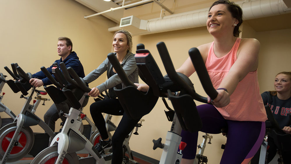 Cal U offers aerobic and other types of classes.